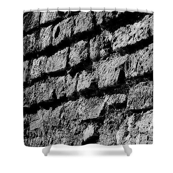 Black Wall Shower Curtain