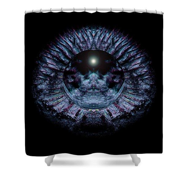 Blue Eye Sphere Shower Curtain