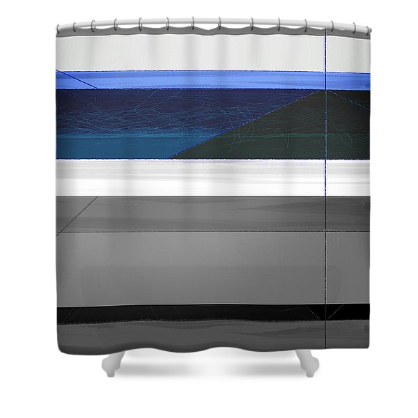 Blue Flag Shower Curtain