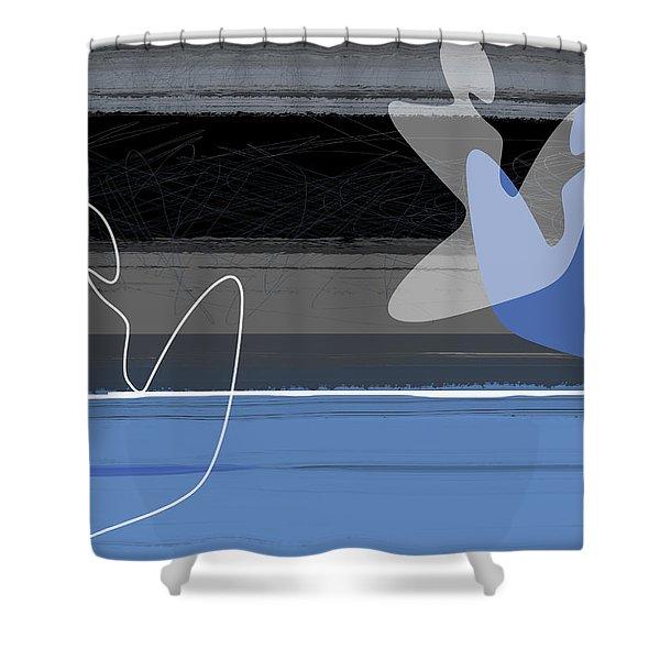 Blue Girls Shower Curtain