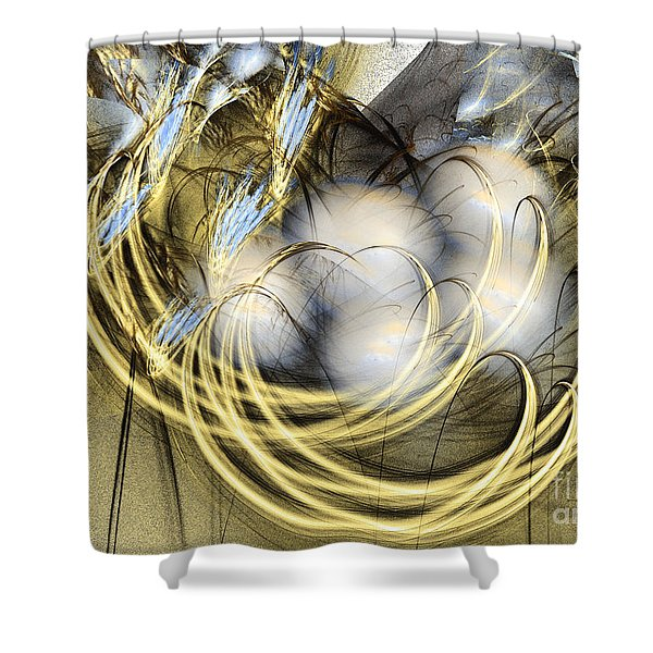 Blue Lullaby - Abstract Art Shower Curtain