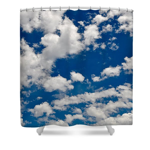 Blue Sky And Clouds Shower Curtain
