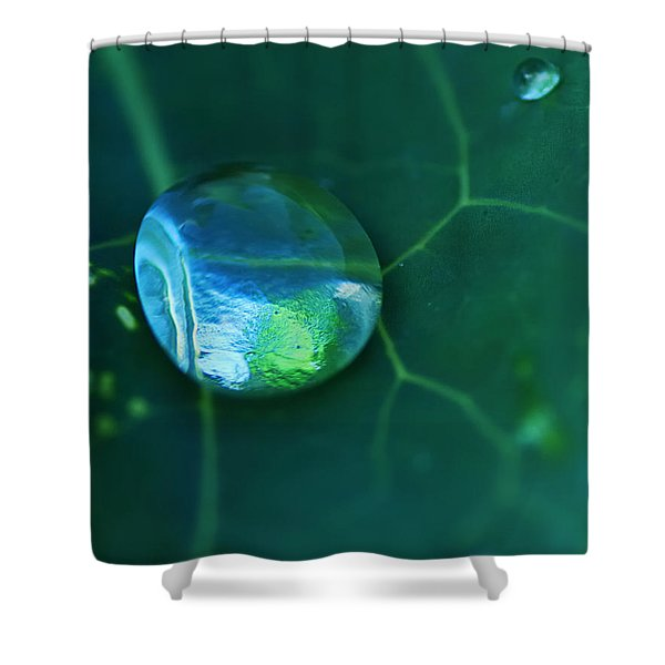 Blue Wind Shower Curtain