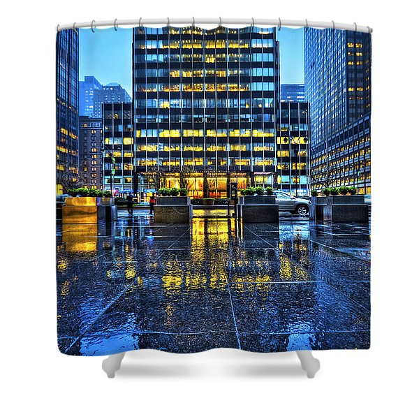 Blue York Shower Curtain