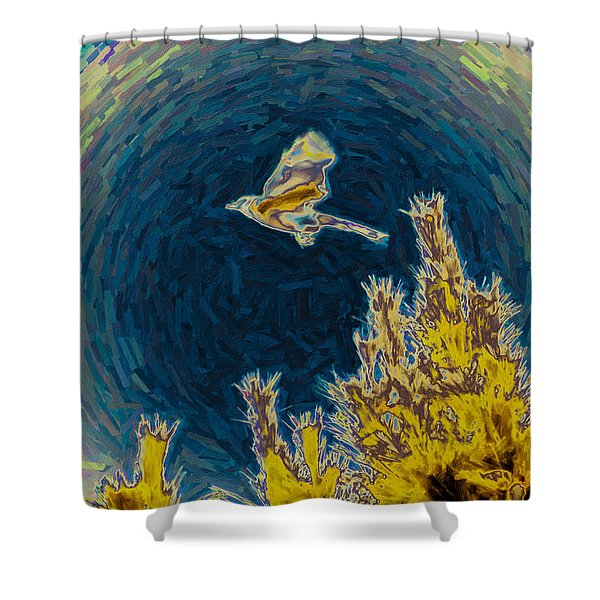 Bluejay Gone Wild Shower Curtain