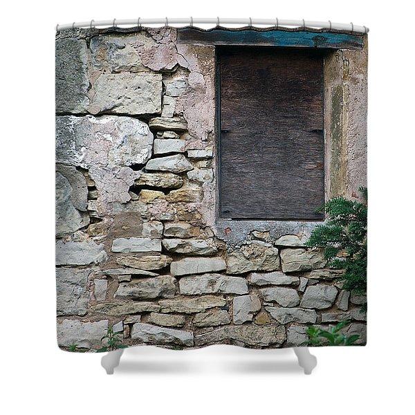 Boarded Window England Shower Curtain