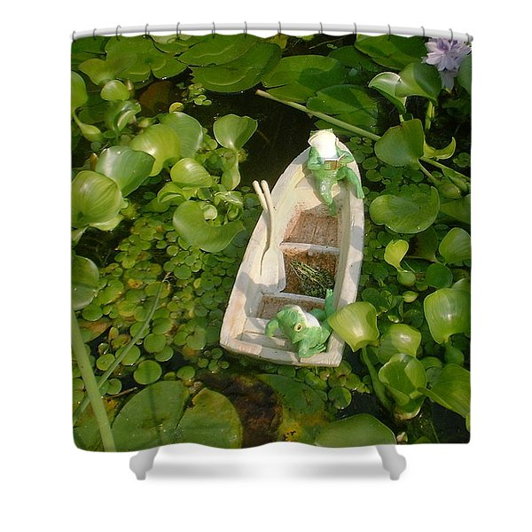 Boating With Friends Shower Curtain
