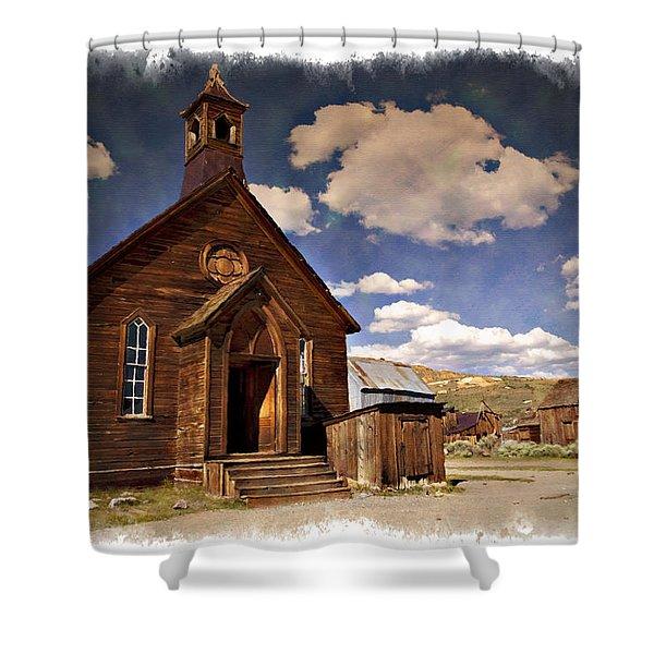 Bodie Church - Impressions Shower Curtain