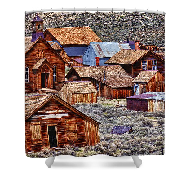 Bodie Ghost Town California Shower Curtain