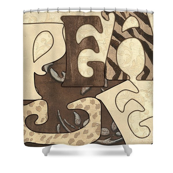 Bohemian Peace Shower Curtain
