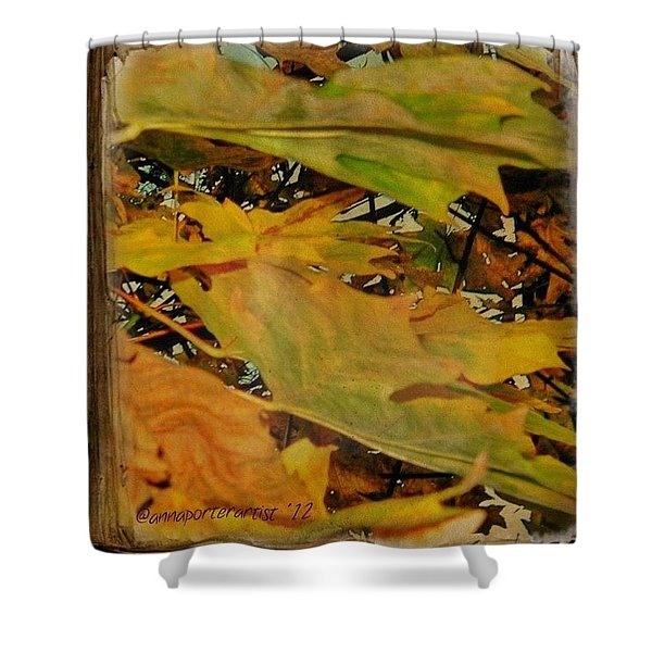 Book Of Leaves  Shower Curtain