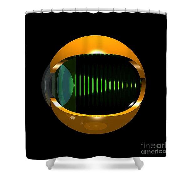 Brass Eye Infinity Shower Curtain