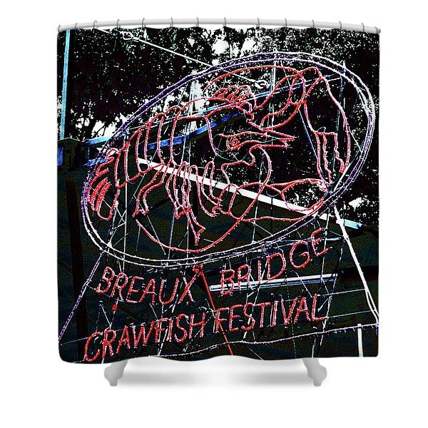Breaux Bridge Crawfish Festival Shower Curtain