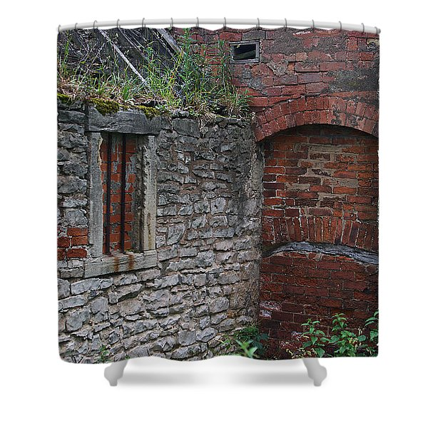 Brick And Stone England Shower Curtain
