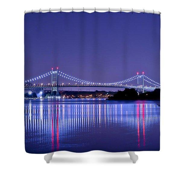 Tri-borough Bridge In Nyc Shower Curtain
