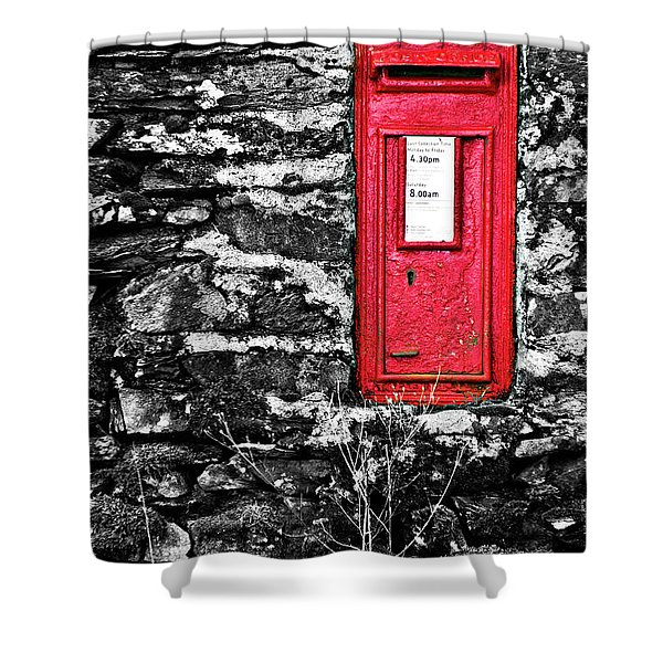 British Red Post Box Shower Curtain