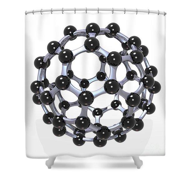 Buckminsterfullerene Or Buckyball C60 18 Shower Curtain