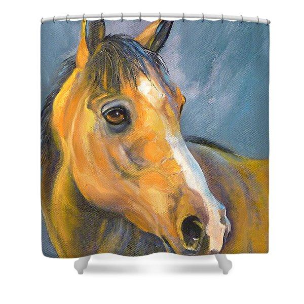 Buckskin Sport Horse Shower Curtain