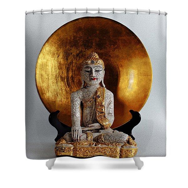 Buddha Girl Shower Curtain