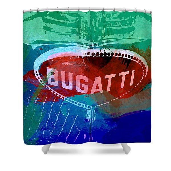 Bugatti Badge Shower Curtain
