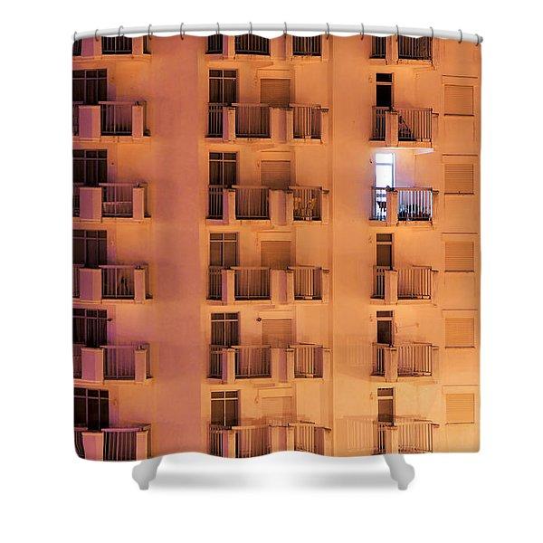 Building Facade Shower Curtain