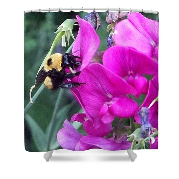 Shower Curtain featuring the photograph Bumble Bee by Charles Robinson