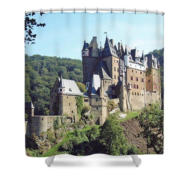 Burg Eltz In Profile Shower Curtain
