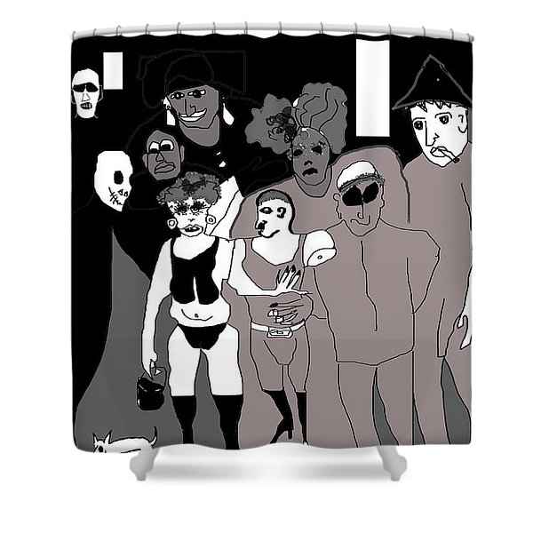 Bus Stop New Orleans Shower Curtain