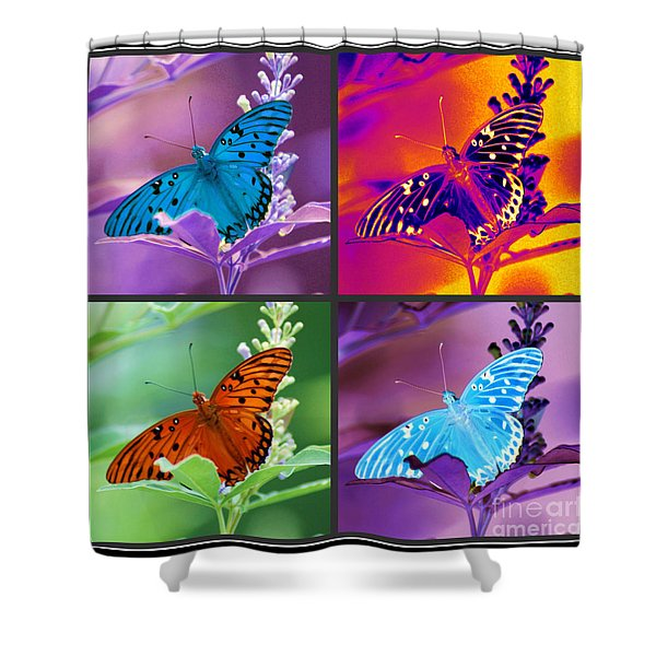 Butterfly Collage Shower Curtain