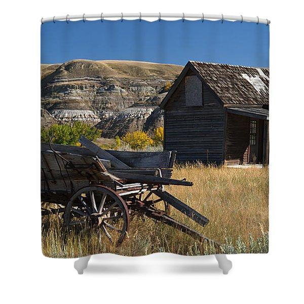 Cabin And Wagon Alberta  Shower Curtain