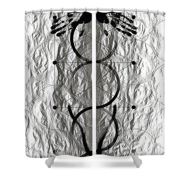 Caduceus Shower Curtain