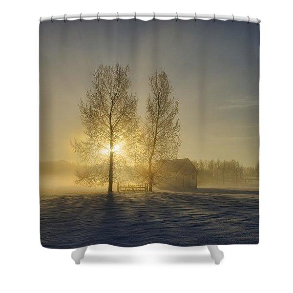 Calgary, Alberta, Canada A Small Shower Curtain