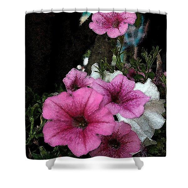 California Petunias Shower Curtain