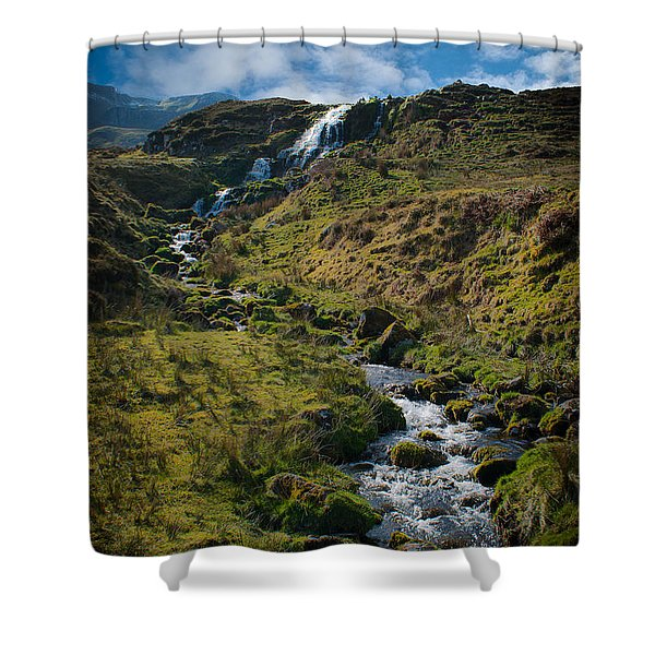 Calmness At The Falls Shower Curtain
