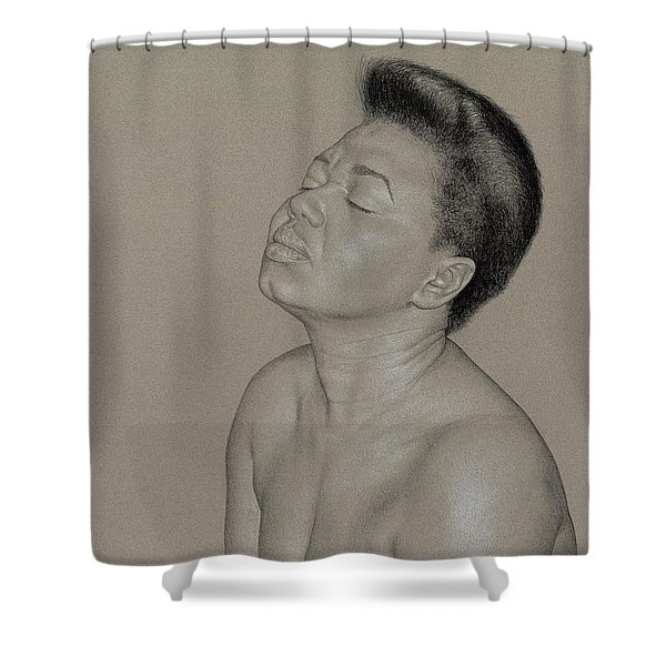Camille 1 Shower Curtain
