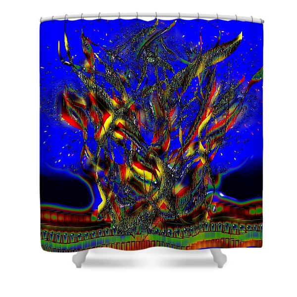 Camp Fire Delight Shower Curtain