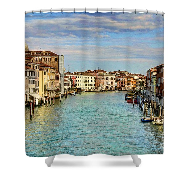 Canals Of Venice  Shower Curtain