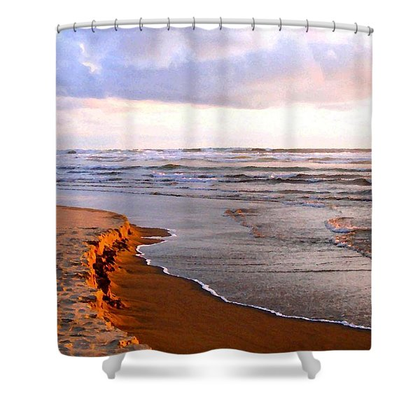 Cannon Beach Painting Shower Curtain