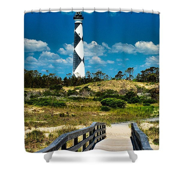 Cape Lookout Light Shower Curtain