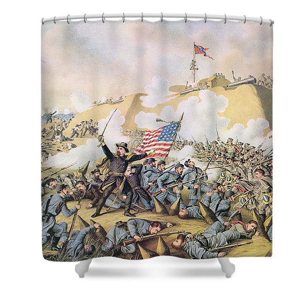 Capture Of Fort Fisher 15th January 1865 Shower Curtain