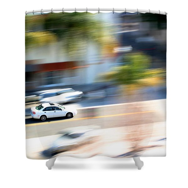 Car In Motion Shower Curtain