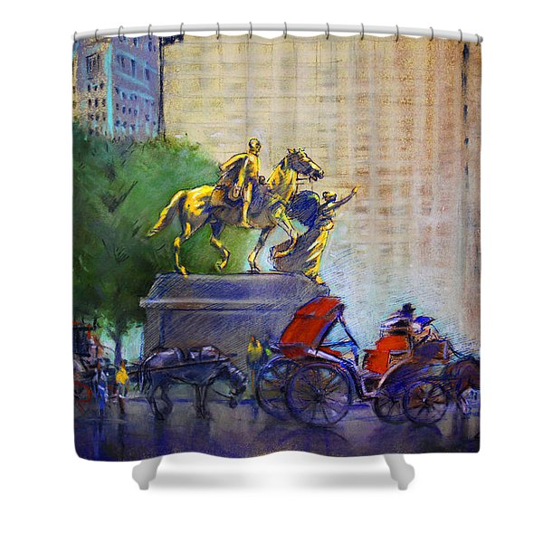 Carriage Rides In Nyc Shower Curtain