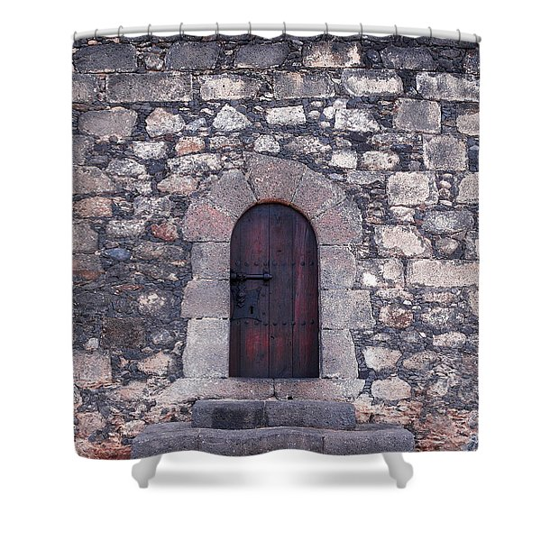 Castillo de San Gabriel at Arrecife Shower Curtain by Jouko Lehto