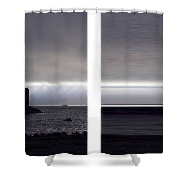 Castle Stalker Diptych Shower Curtain