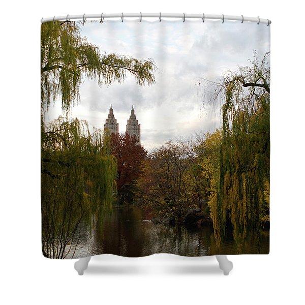 Central Park Autumn Shower Curtain