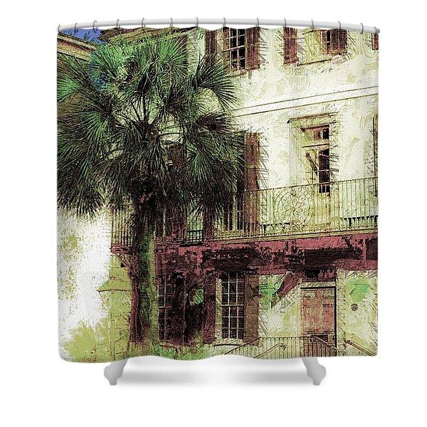 Charleston Homes Shower Curtain