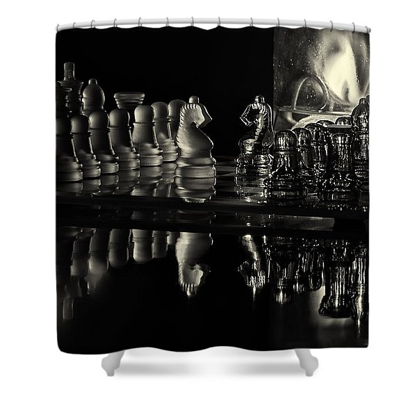 Chess By Candlelight Shower Curtain