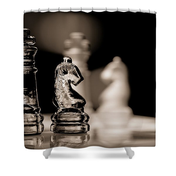 Chess King And Knight Shower Curtain