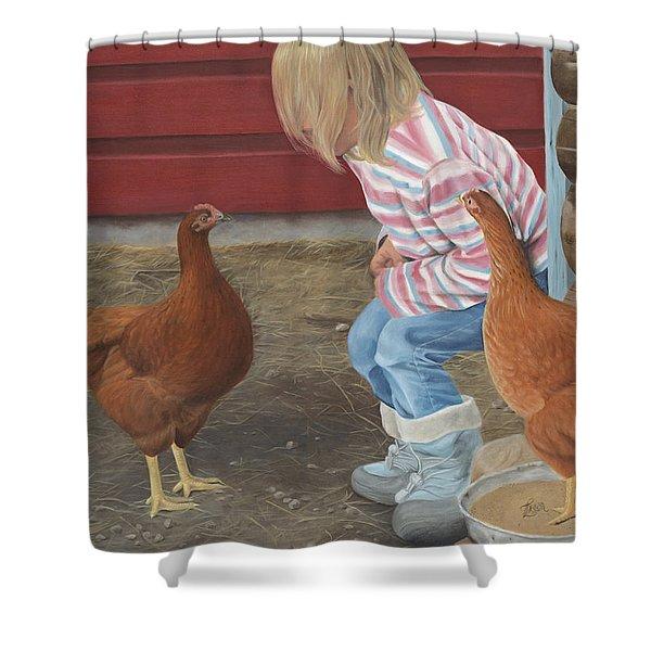 Chicken Talk Shower Curtain