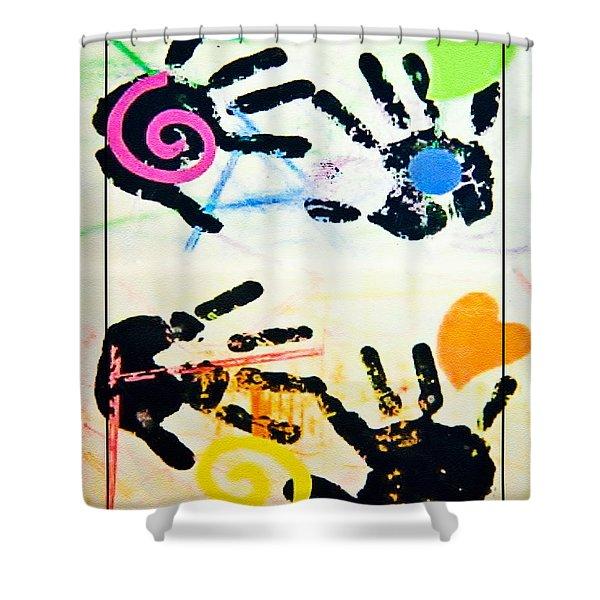 Child's Art Work Shower Curtain